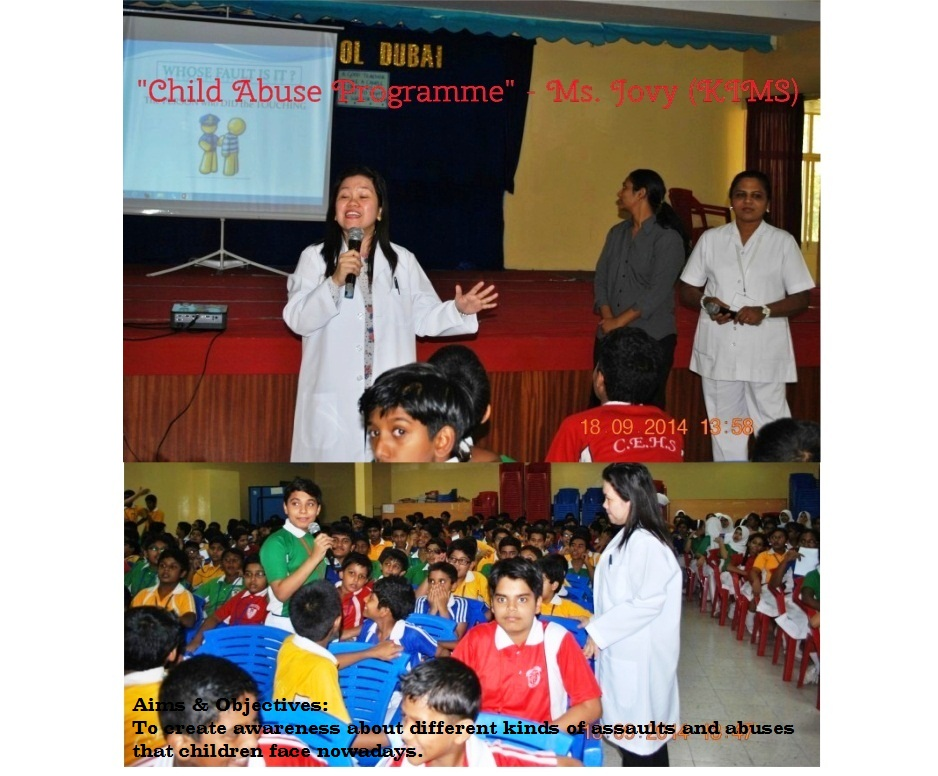 "Child Abuse Programme ""Was conducted by Ms.Jovy from KIMS."